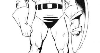 Рисунки карандашом Капитан Америка (15 фото)