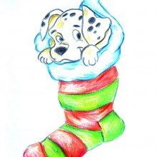 Самые красивые рисунки щенков для срисовки (26 фото)