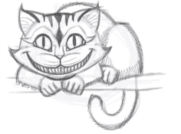 рисунки чеширский кот простым этой статье информация