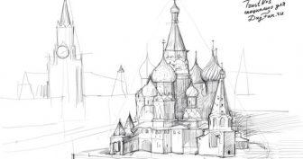 Рисунки для срисовки Москва (15 фото)