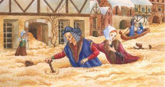 Рисунки карандашом к сказке «Сладкая каша» (15 фото)