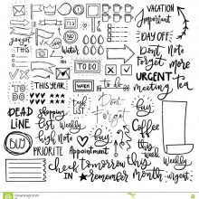 Картинки для срисовки наклейки для ежедневника (23 фото)