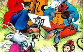 Рисунки карандашом к басне «Квартет» (15 фото)