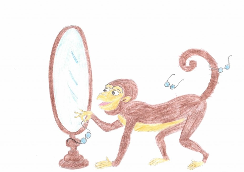 обезьянка и зеркало картинки лопес перестает удивлять
