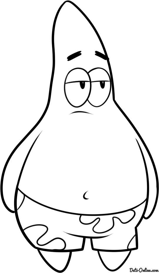 Патрик из спанч боба картинки рисовать