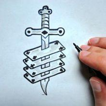 Картинки ножей для срисовки (20 фото)