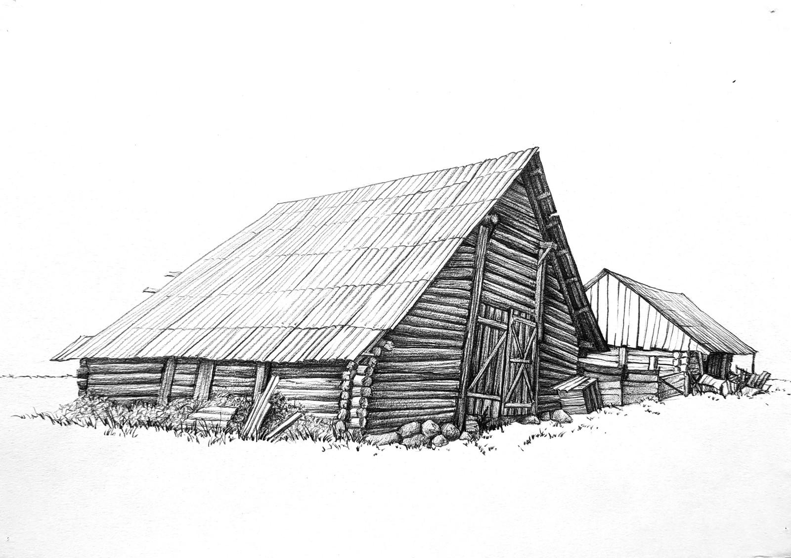 расположен деревенский дом без гвоздей рисунок можно самых различных