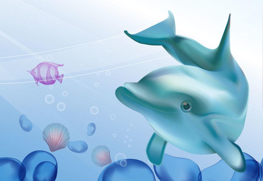 Детские картинки про дельфинов
