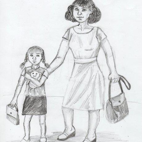 Картинки с мамой с ребенком для начинающих
