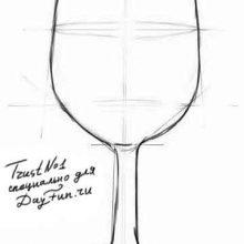 Рисунки карандашом бокал (28 фото)