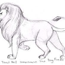 Рисунки «Лев и собачка» карандашом (19 фото)