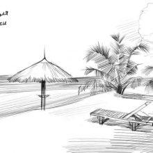 Рисунки карандашом девушка у моря (28 фото)