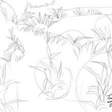 Рисунки карандашом трава (25 фото)