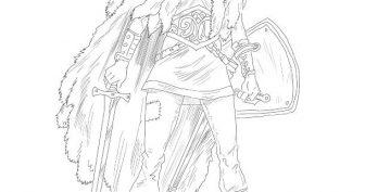 Рисунки карандашом фэнтези воительницы (35 фото)