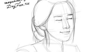 Рисунки карандашом девушка с закрытыми глазами (19 фото)