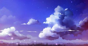 Рисунки карандашом небо (22 фото)