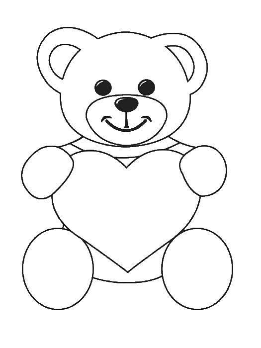 Как рисовать мишку на открытку, поздравлением для