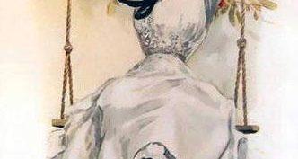Рисунки карандашом девочка на качелях (27 фото)