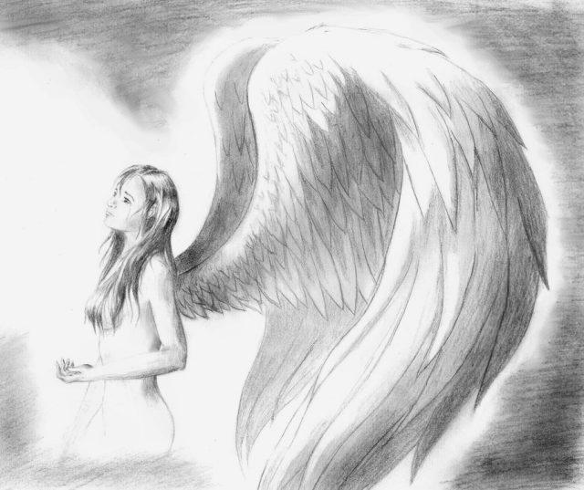 картинки карандашом ангелы как нарисовать норрис может убить