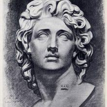 Рисунки гипсовой головы карандашом (30 фото)