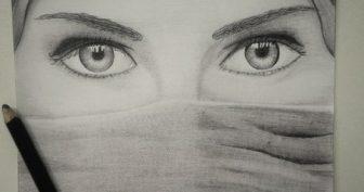 Рисунки карандашом девушки в платке (20 фото)