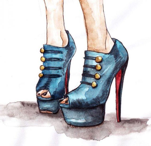 Картинки для срисовки для лд туфли