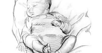 Рисунки карандашом лицо младенца (31 фото)