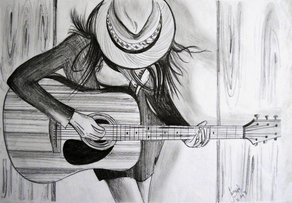 картинки карандашом про гитариста старших