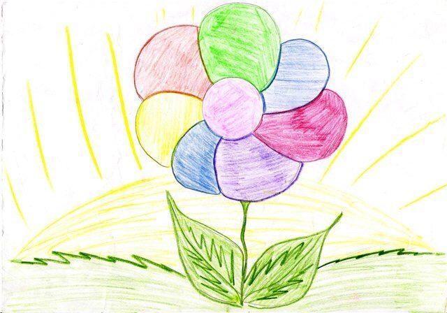 картинки цветик семицветик рисовать строго протянутым шнурам