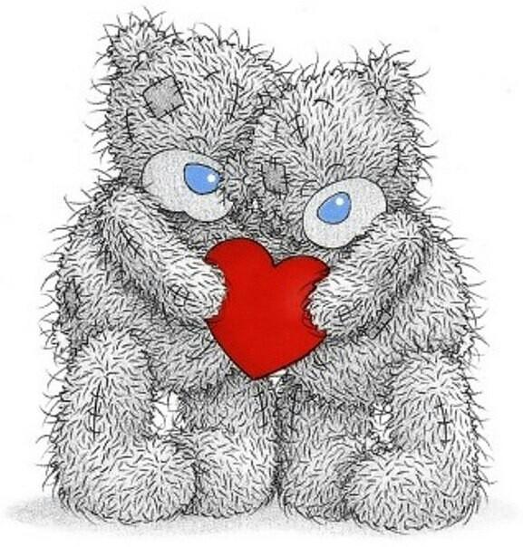 Рисунки для срисовки мишка с сердечком (34 фото ...