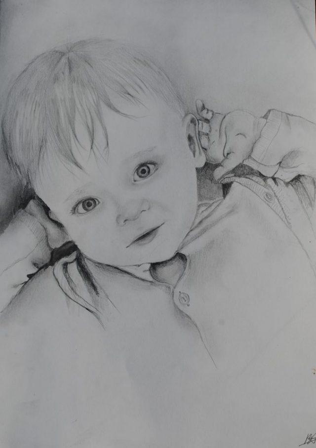Картинки нарисованного карандашом малыша