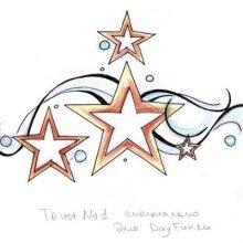 Рисунки карандашом звезда (22 фото)