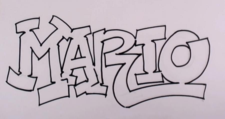 Сделать открытки, поэтапные прикольные рисунки граффити