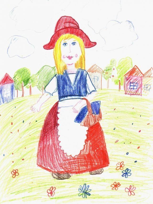 Картинки рисунки из сказки красная шапочка пристально следить