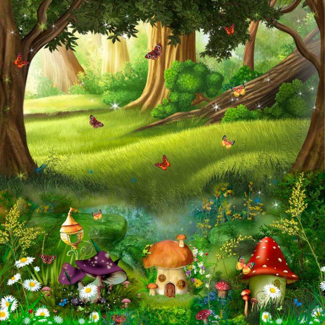 Рисунок сказочного леса для детей