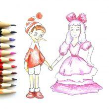 Рисунки карандашом Буратино (28 фото)