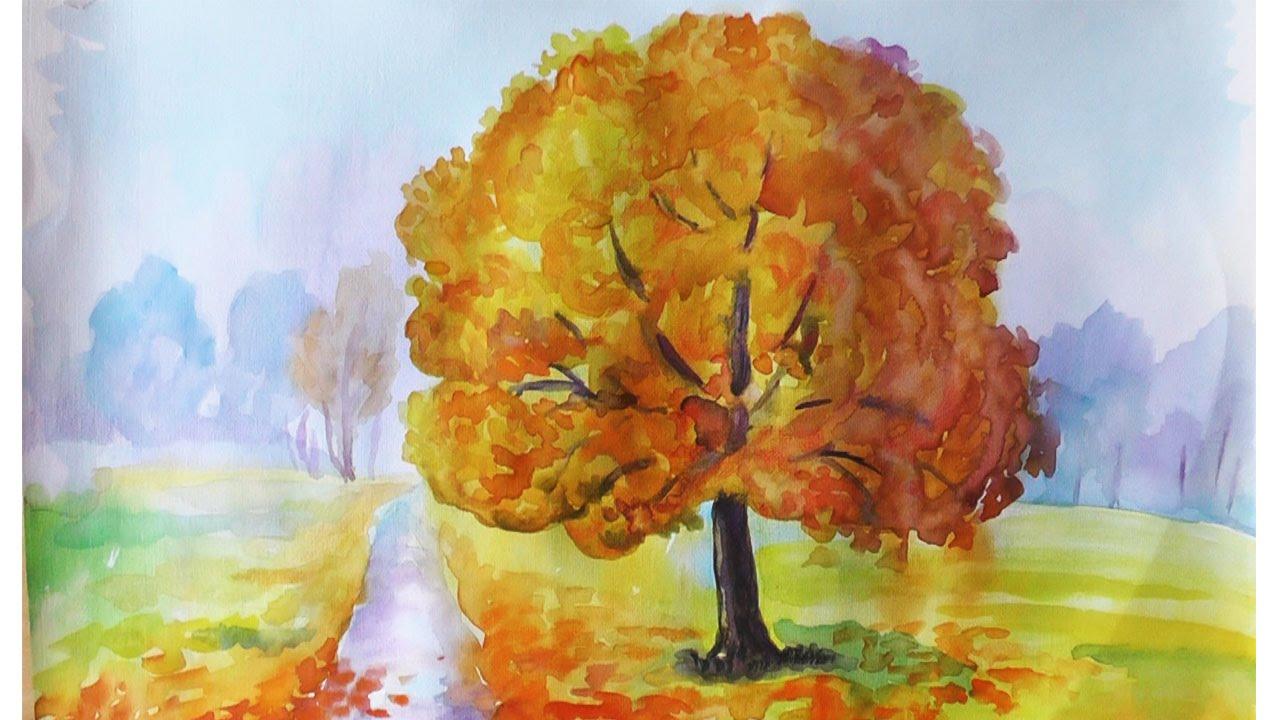 структура превращает рисунки осень для начинающих будет