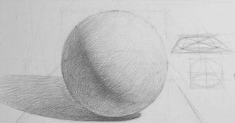 Рисунки шара карандашом с тенью (27 фото)