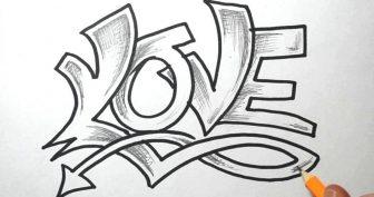 Поэтапные рисунки граффити карандашом (33 фото)