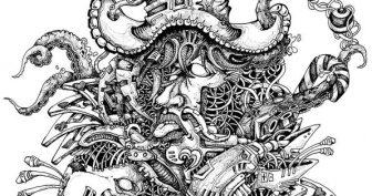 Рисунки карандашом животных в стиле монстров (31 фото)