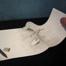 Рисунки иллюзии карандашом (33 фото)
