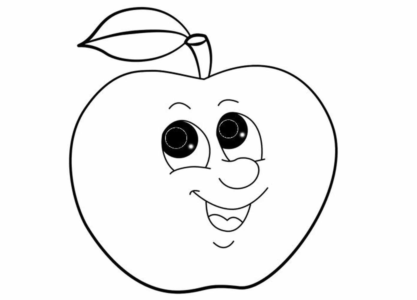 вот шаблон картинки яблоко начать