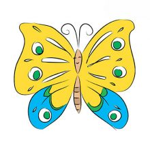 Рисунки карандашом для детей бабочки (36 фото)