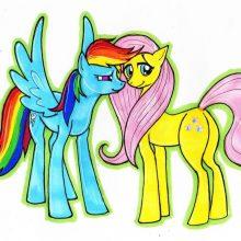 Рисунки для срисовки пони радуга (22 фото)