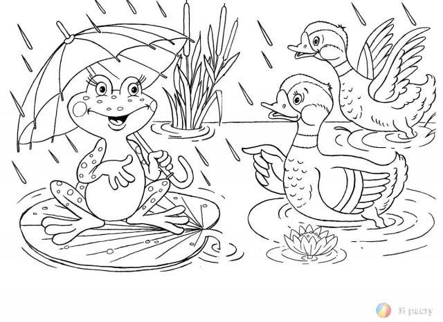 """Рисунки к сказке """"Лягушка путешественница"""" карандашом (17 ..."""