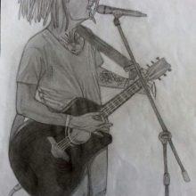 Рисунки карандашом человека с гитарой (23 фото)
