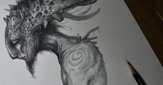 Рисунки карандашом мистические животные (26 фото)