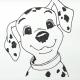 Рисунки для срисовки щенки и котята (34 фото)