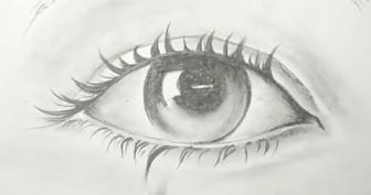 Рисунки для срисовки глаза и брови (25 фото)