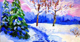 Рисунки цветными карандашами природа (33 фото)
